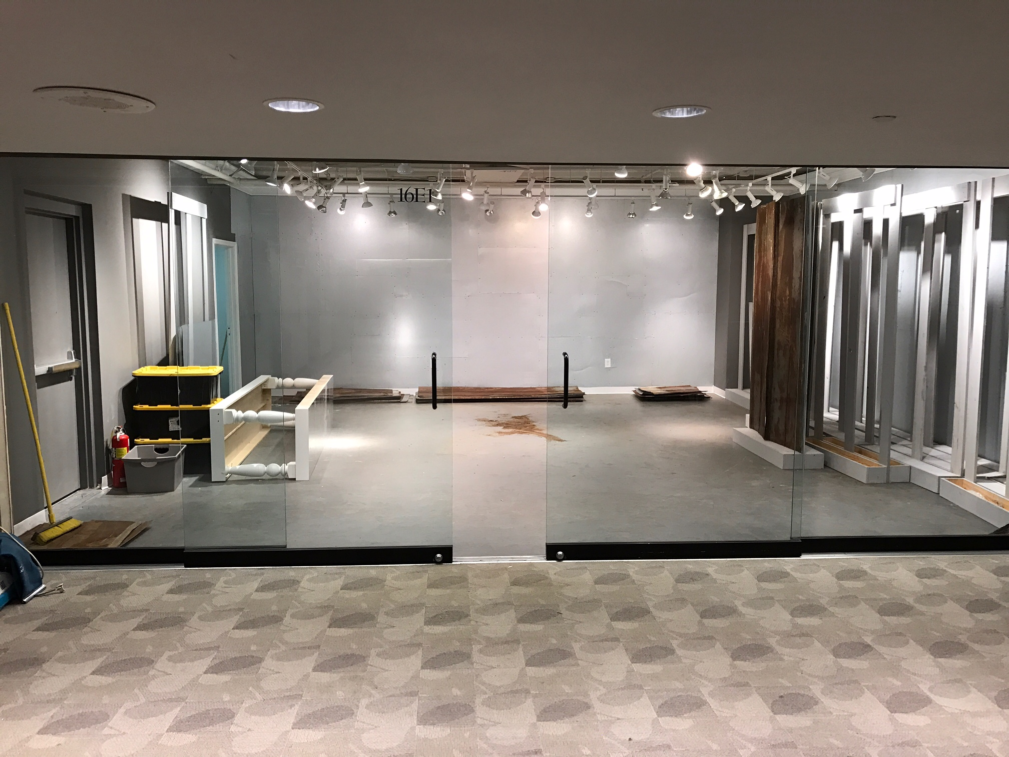 Building 1, Floor 16, Showroom 16-E-1 Waiting on our logo and info to be put on the glass.