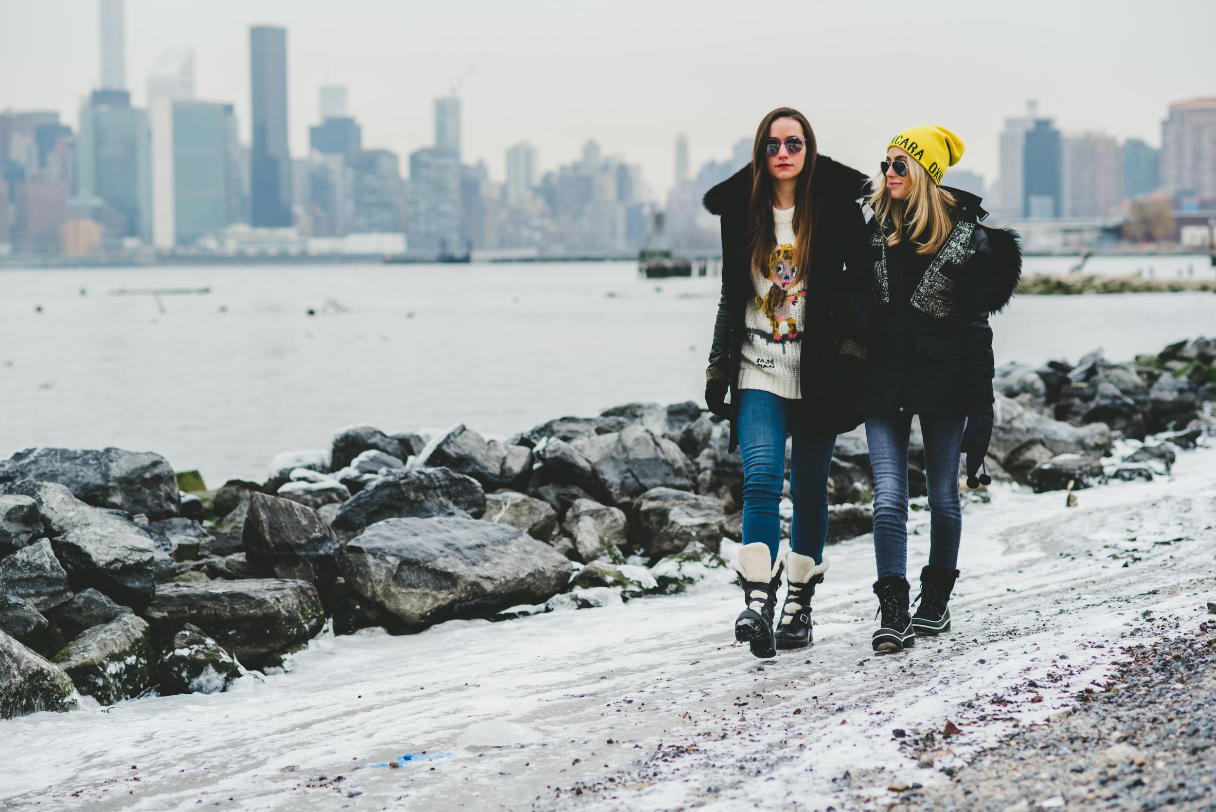 Sophie and Charlotte Walking Winter.jpg