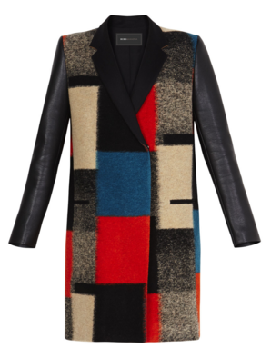 BCBG Max Azria Color Block Coat