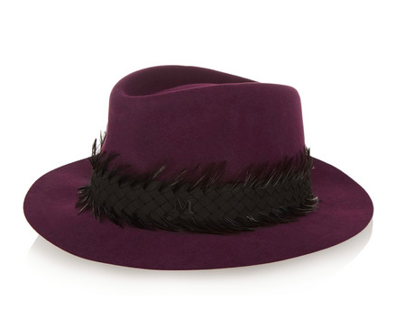 Maison Michel Feathered Hat
