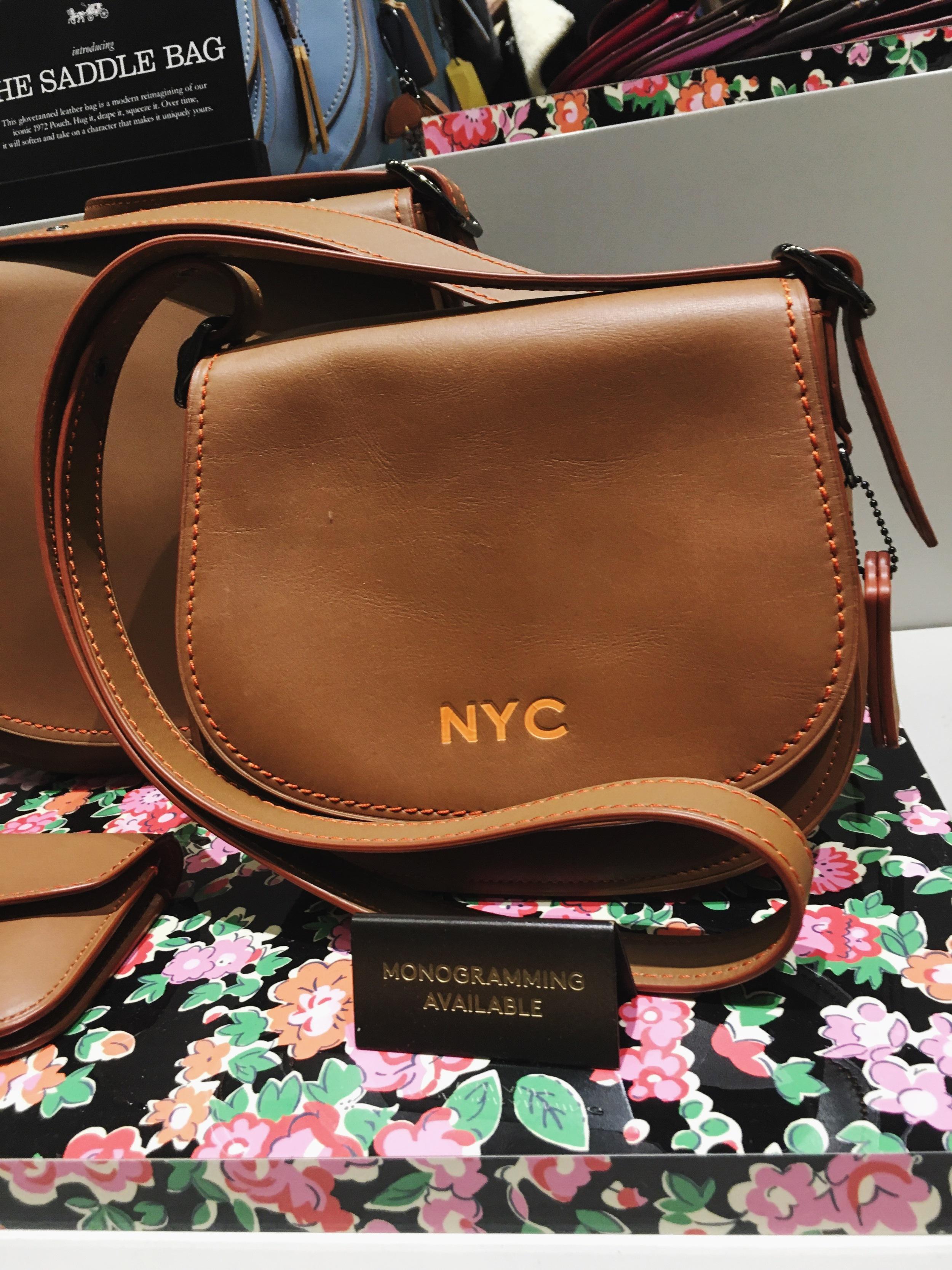 Coach Customized Monogrammed Satchel Bag