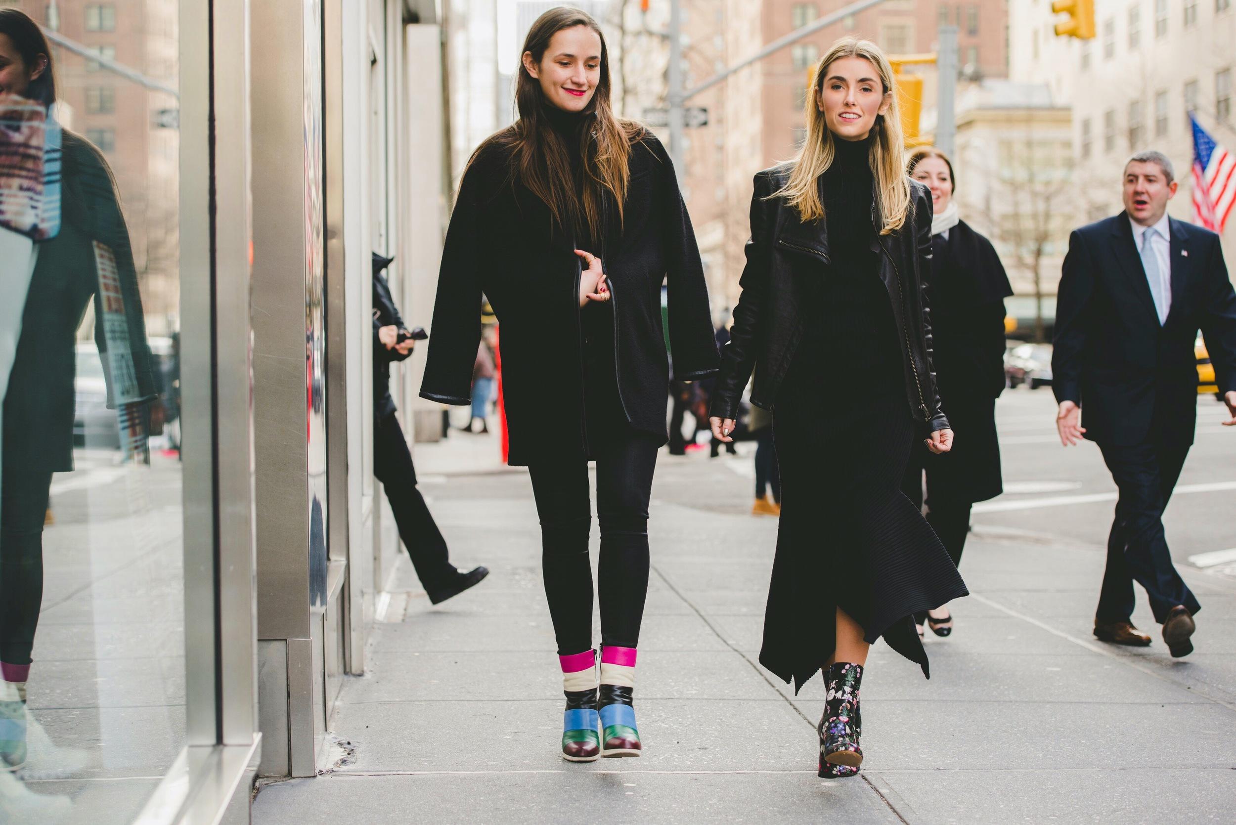 Sisters Walking on Madison Avenue NYC Fashion Bloggers