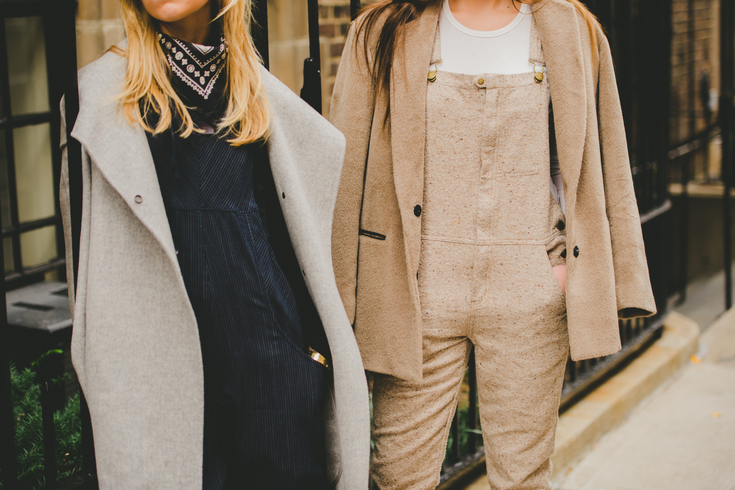 NYC Sreet Style Fashion Bloggers Close Up of Overalls