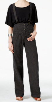FREE PEOPLE PINSTRIPED OVERALLS