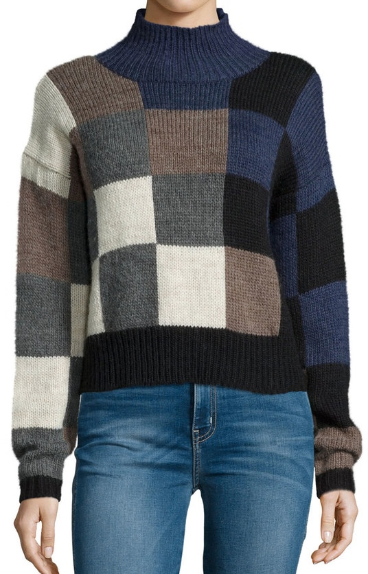 CURRENT/ELLIOTT CHECKERED SWEATER