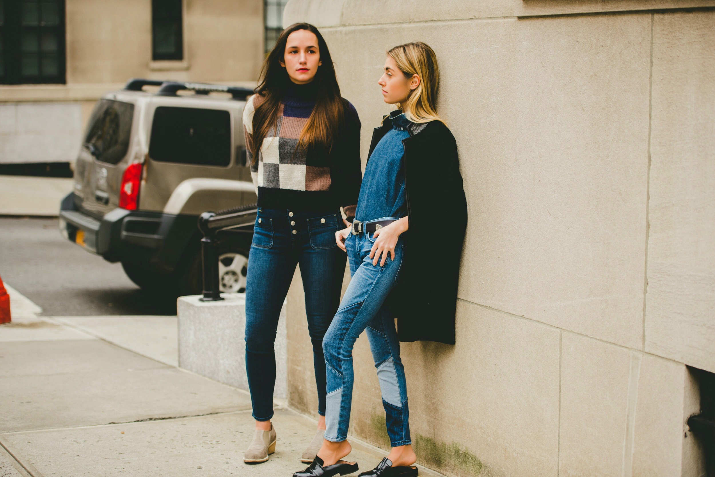 BICKLEY SISTERS- PARK AVE- NYC STREET STYLE