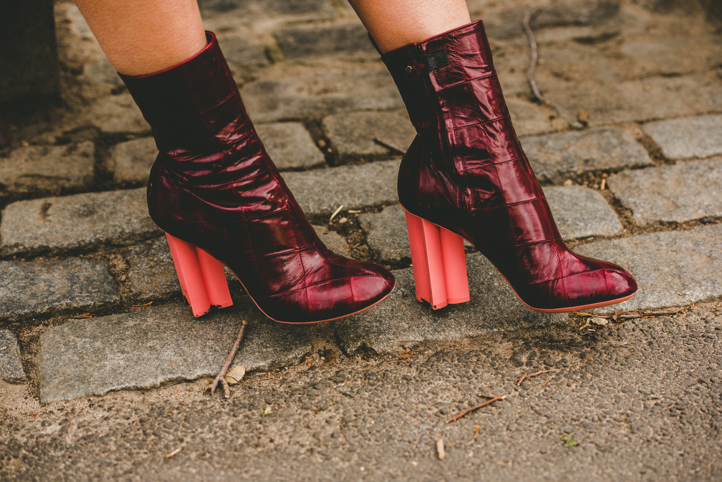 Louis Vuitton Red and Pink Boots