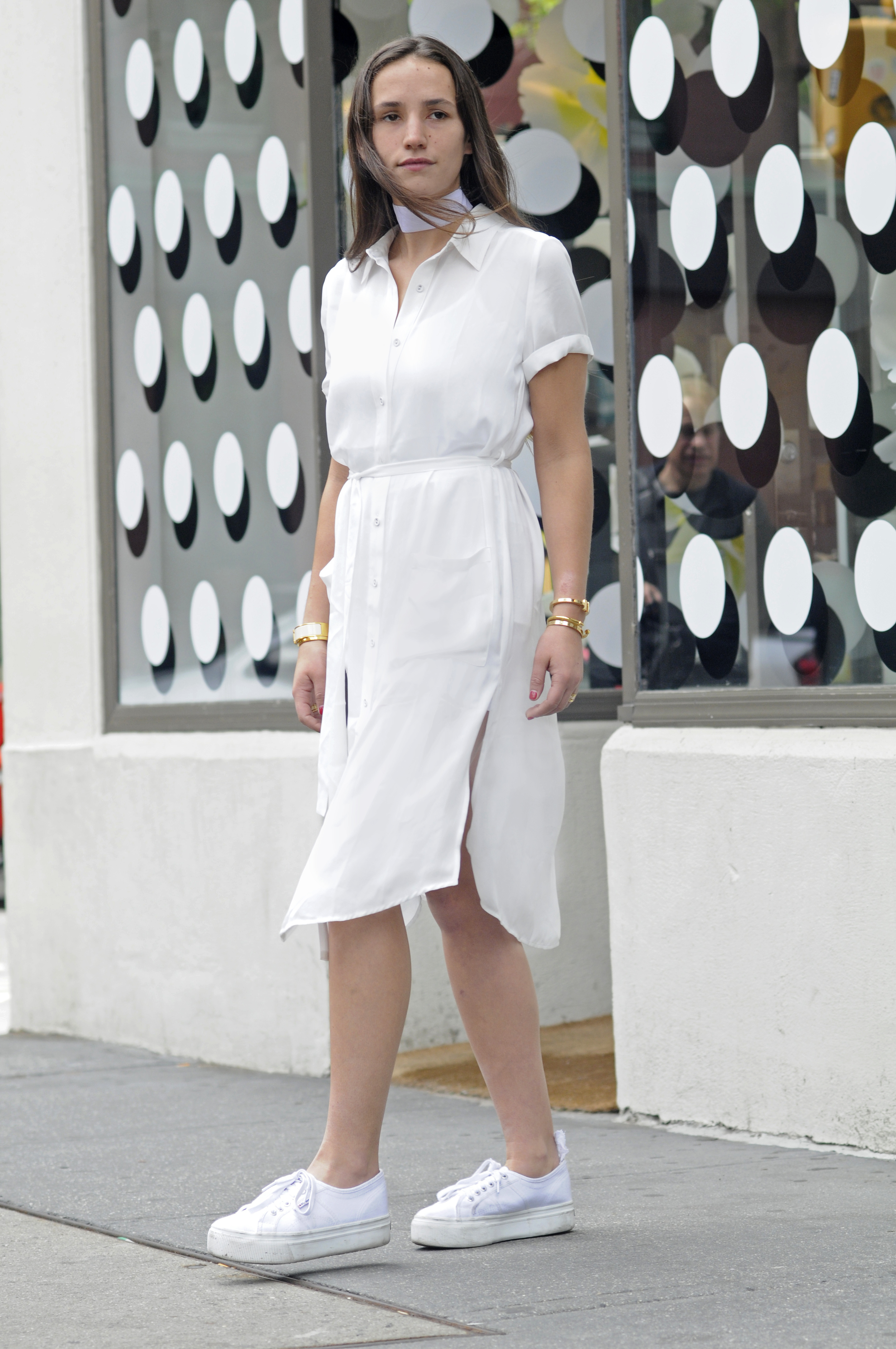 NYC BLOGGER STREET STYLE SOPHIE BICKLEY ALL WHITE