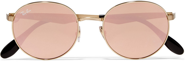 RAY BAN GOLD PLATED MIRRORED SUNGLASSES