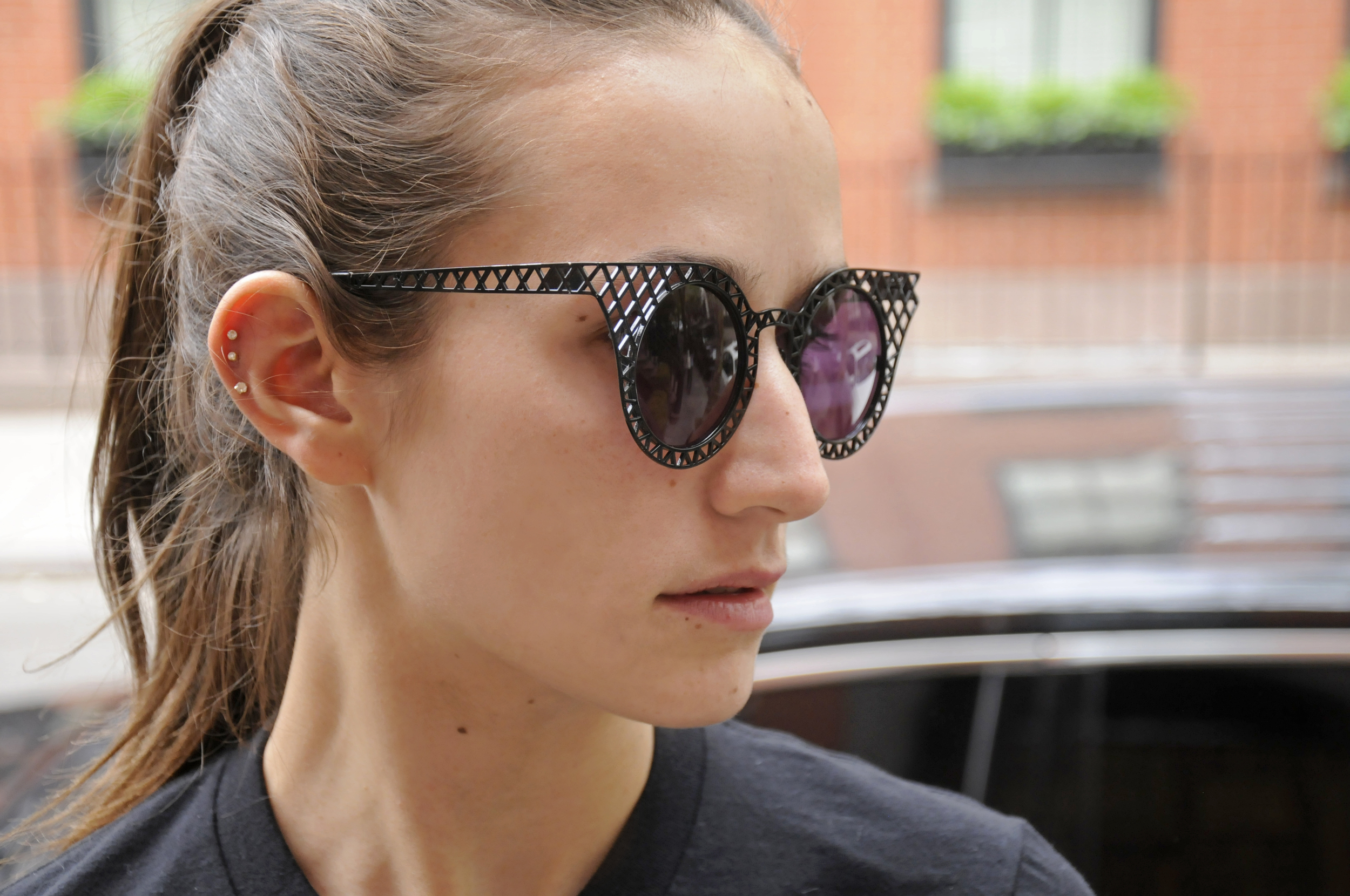 SOPHIE BICKLEY YIN 2MY YANG CAGE SUNGLASSES