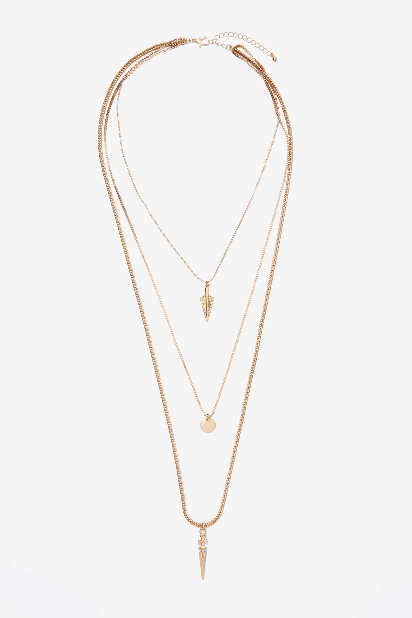 CREST LAYERED NECKLACE