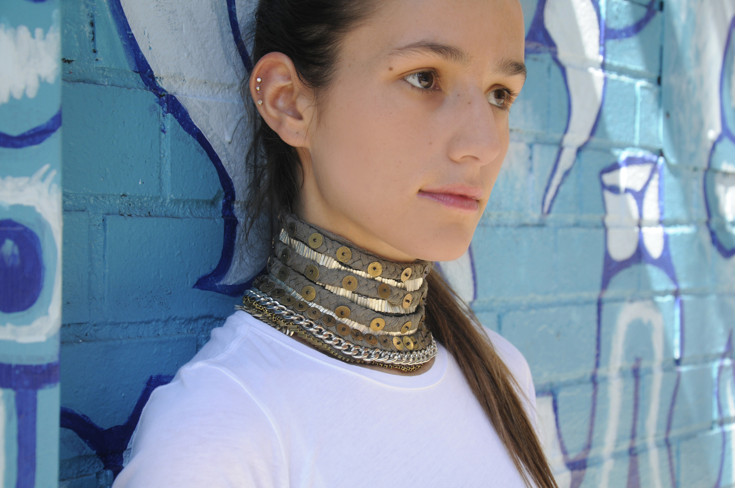 SOPHIE BICKLEY MIGNONNE GAVIGAN LAYNE CHOKER IN GREY