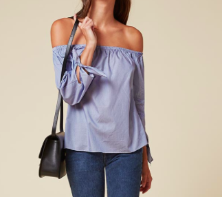 THE REFORMATION OFF THE SHOULDER TOP