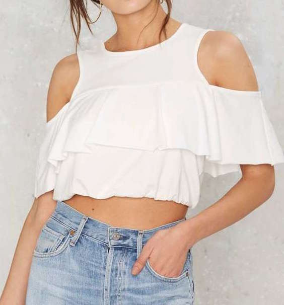 FACTORY 'RORY' OFF-THE-SHOULDER TOP