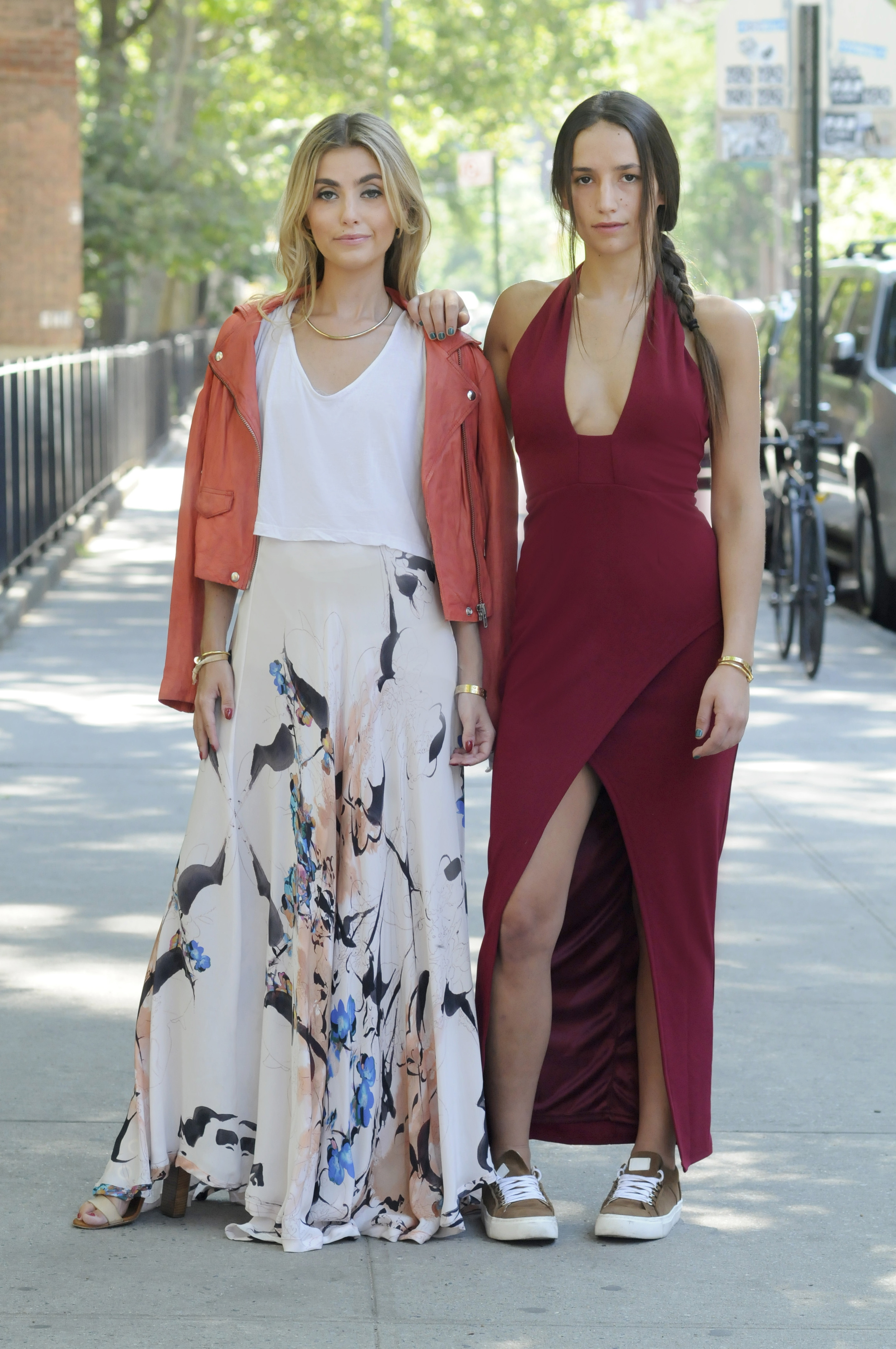 SOPHIE AND CHARLOTTE BICKLEY YIN 2MY YANG MAXI DRESS STREET STYLE SISTER FASHION BLOGGERS