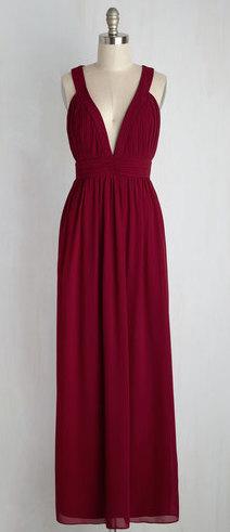 TFNC LONDON GLAMOUR MAROON MAXI DRESS