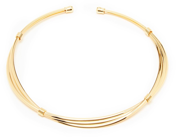 SOLE SOCIETY LAYERED COLLAR NECKLACE