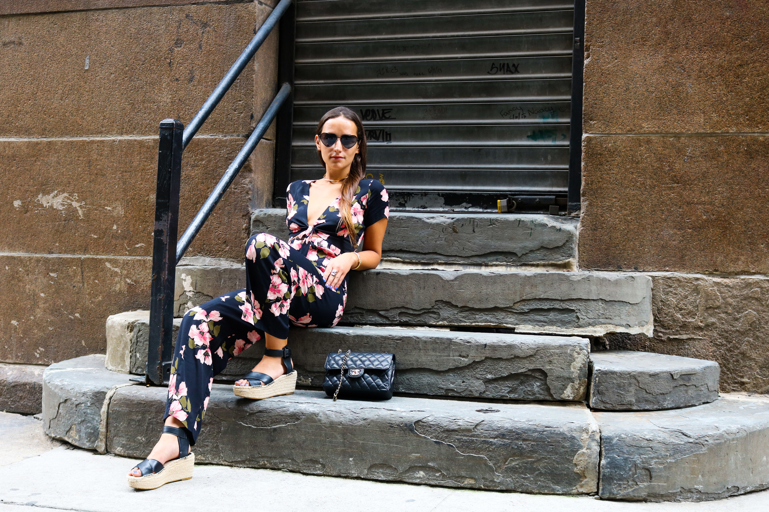 SOPHIE BICKLEY YIN 2MY YANG SISTER FASHION BLOGGER NEW YORK STREET STYLE FLORAL TREND 1