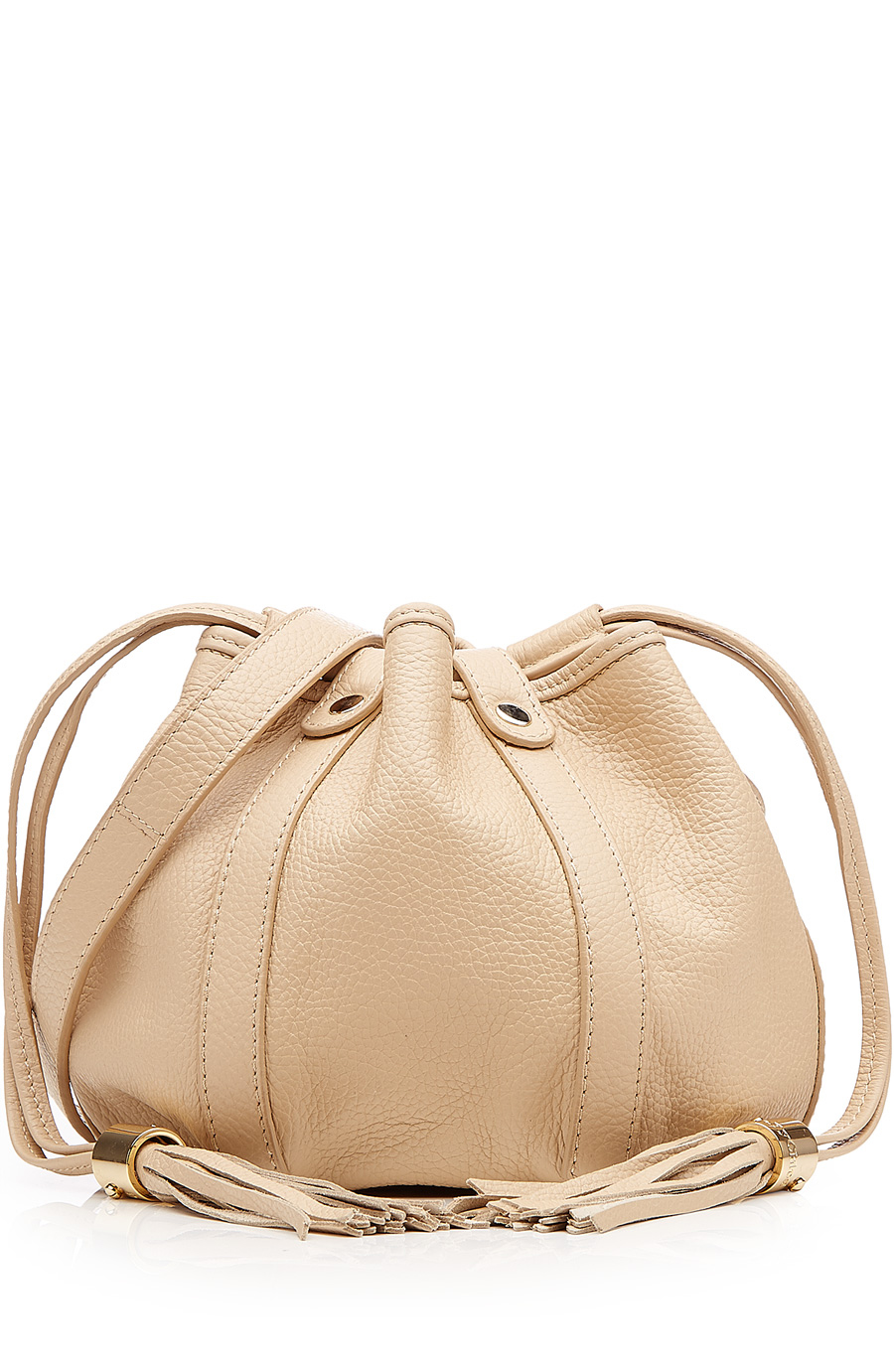 SEE BY CHLOE LEATHER DRAWSTRING BAG