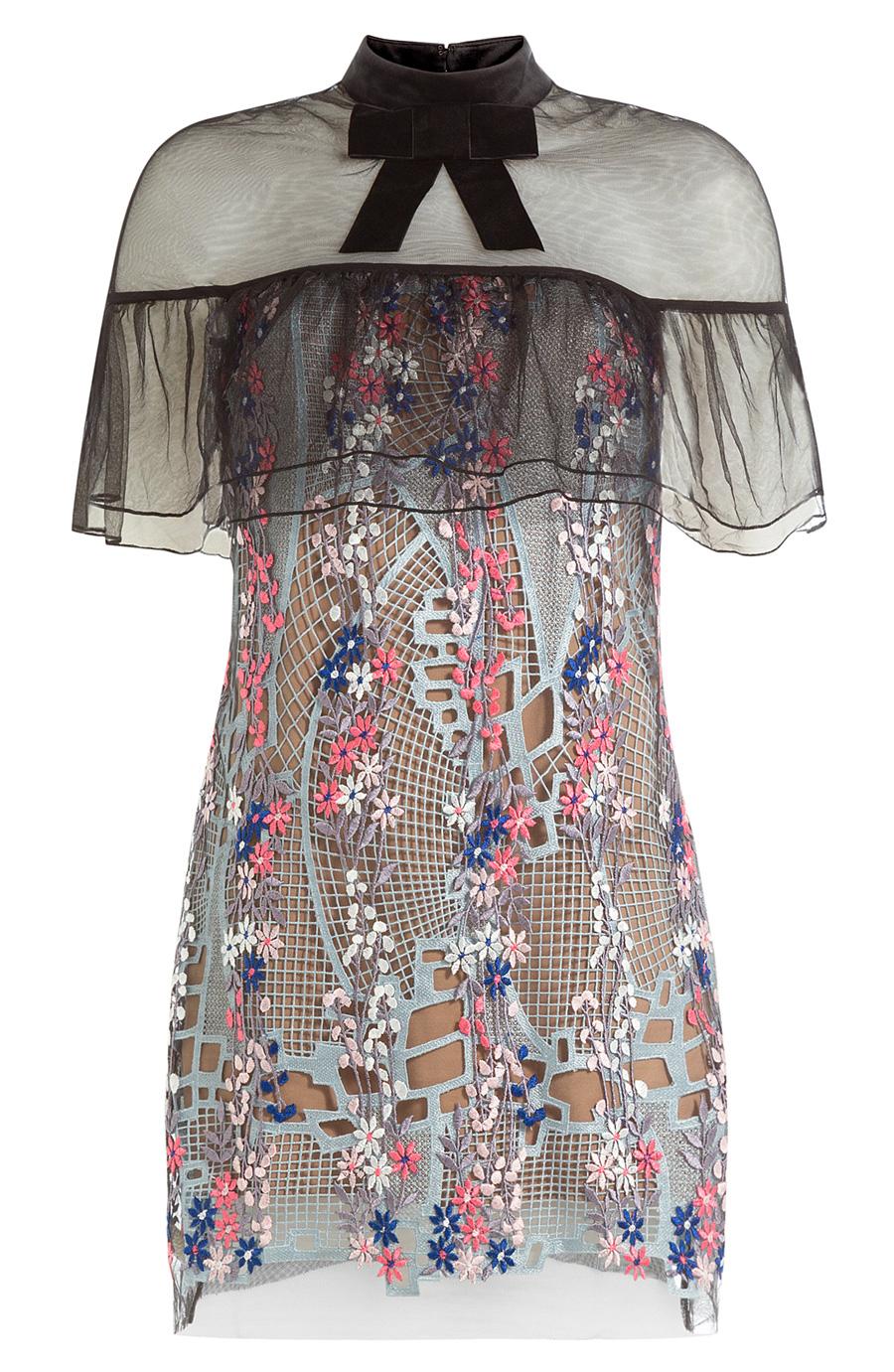 SELF PORTRAIT FLORAL VINE DRESS