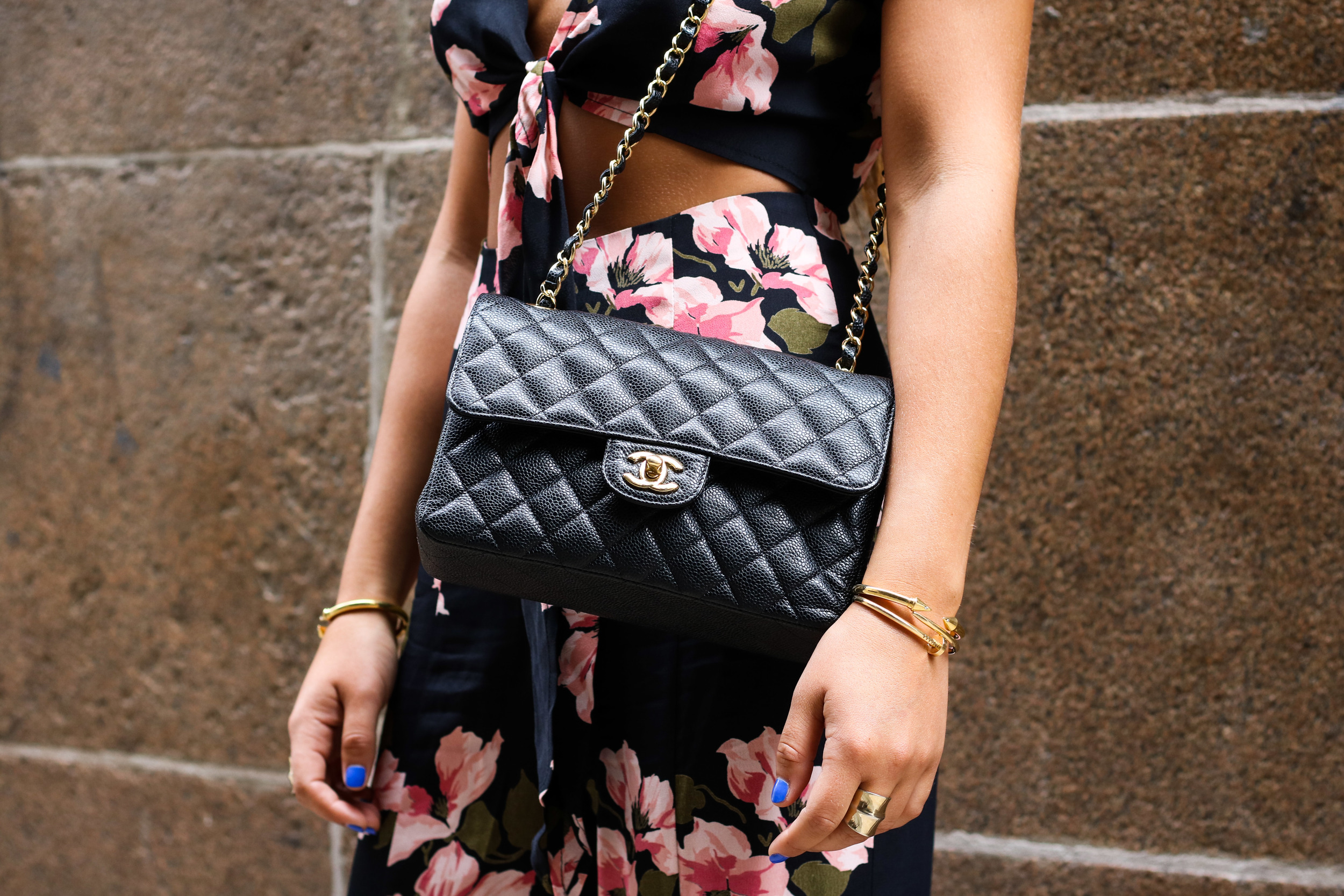 CHANEL CLASSIC QUILTED BAG DETAILS