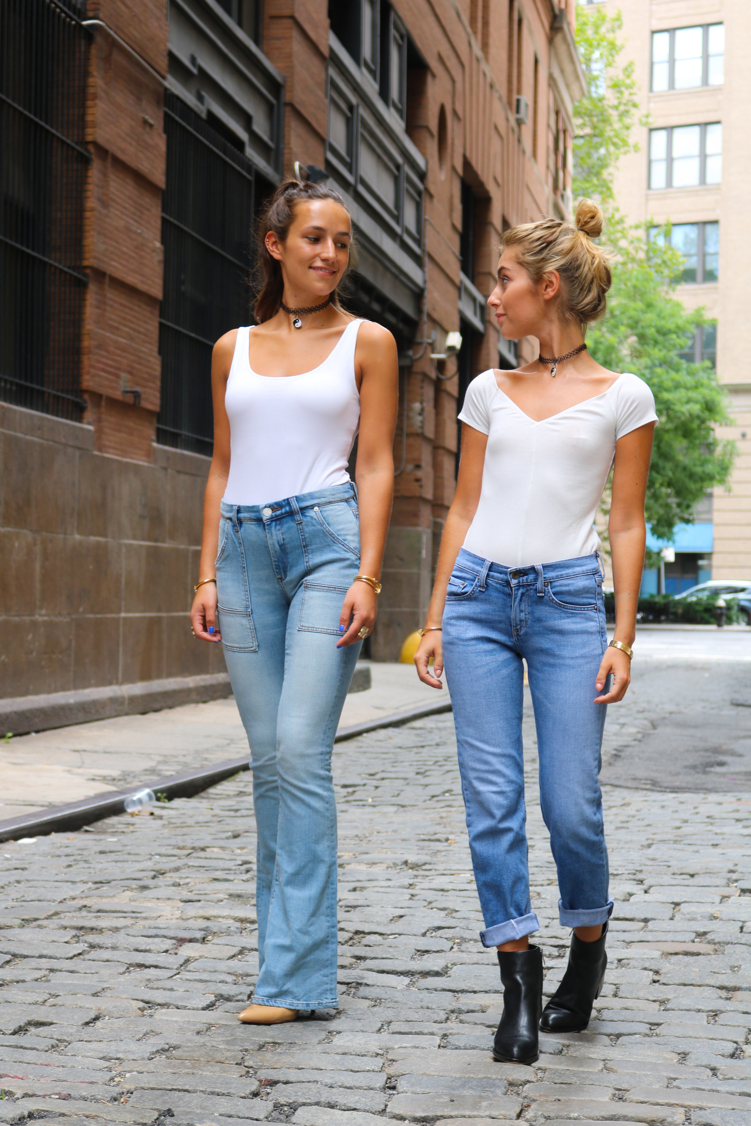 SOPHIE AND CHARLOTTE BICKLEY YIN 2MY YANG SISTER FASHION BLOGGERS FULL LENGTH