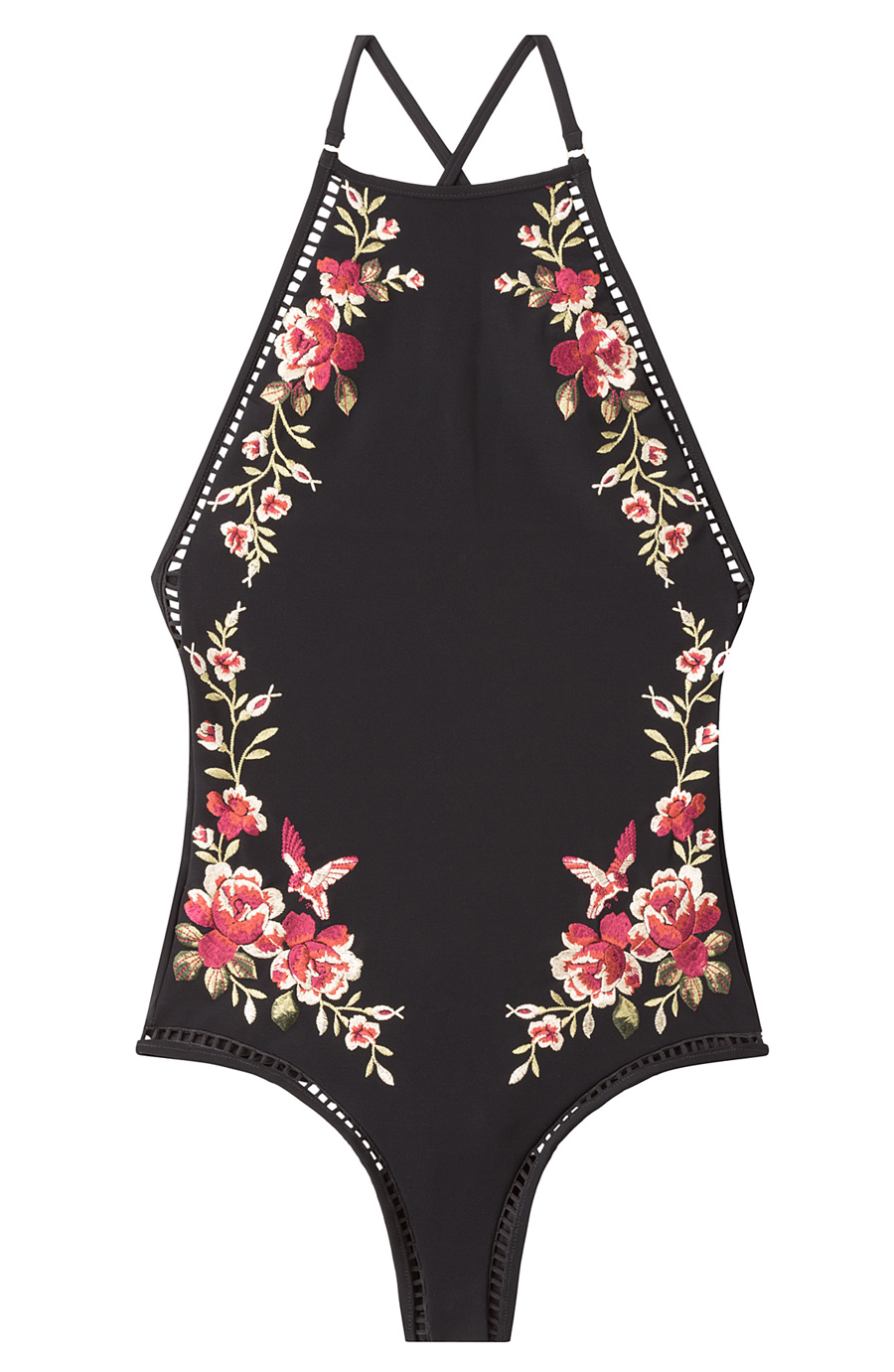 ZIMMERMAN FLORAL EMBROIDERED ONE PIECE