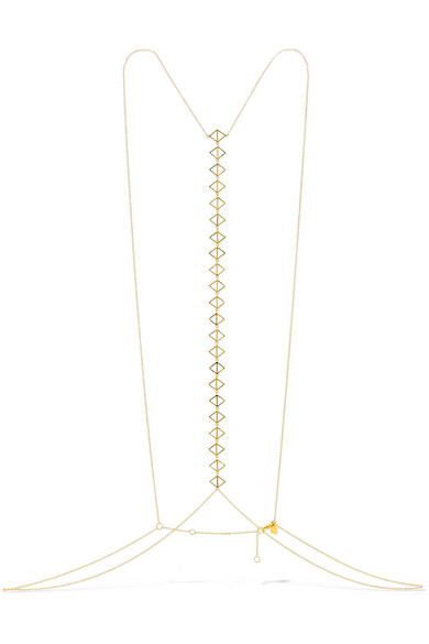ARME DE L'AMOUR GOLD PLATED BODY CHAIN
