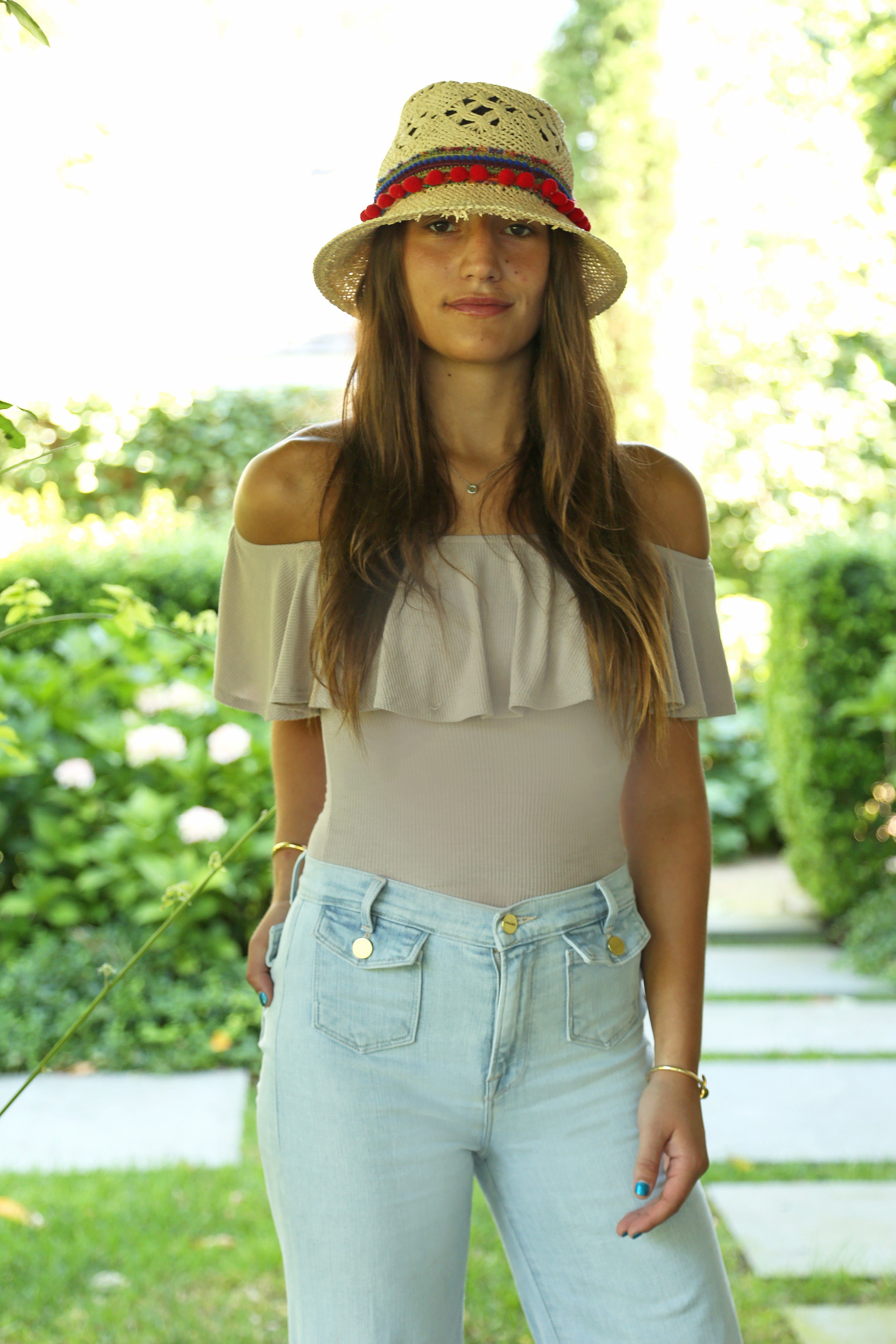 SOPHIE BICKLEY YIN 2MY YANG SISTER BLOGGERS STRAW HATS