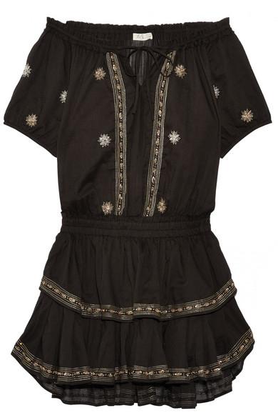 LOVESHACKFANCY 'POPPY' OFF THE SHOULDER DRESS