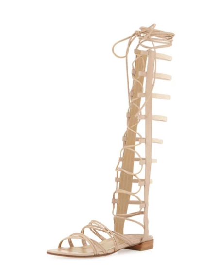STUART WEITZMAN TAN GLADIATOR SANDALS