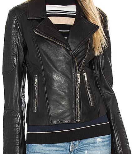 BB DAKOTA HEELY LEATHER JACKET