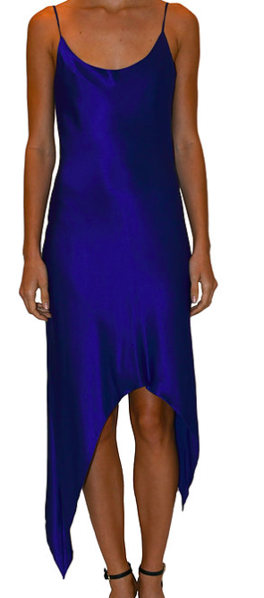 JUST DREW NYC ROYAL BLUE SLIP DRESS