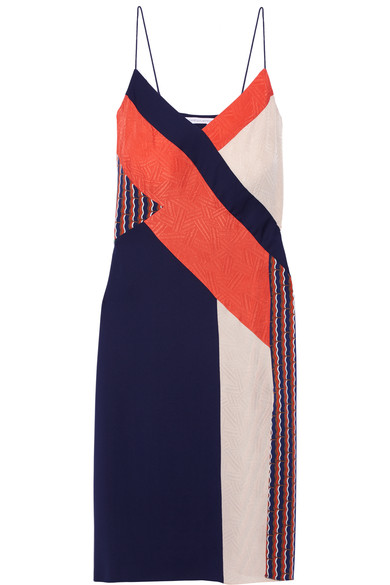 DIANE VON FURSTENBERG PATTERNED SLIP DRESS