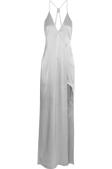 HAILSTON HERITAGE ASYMMETRIC SILK MAXI DRESS