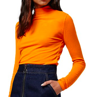 TOPSHOP ORANGE TURTLENECK