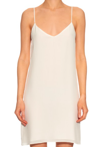 RAEY DEEP-V SILK SLIP DRESS