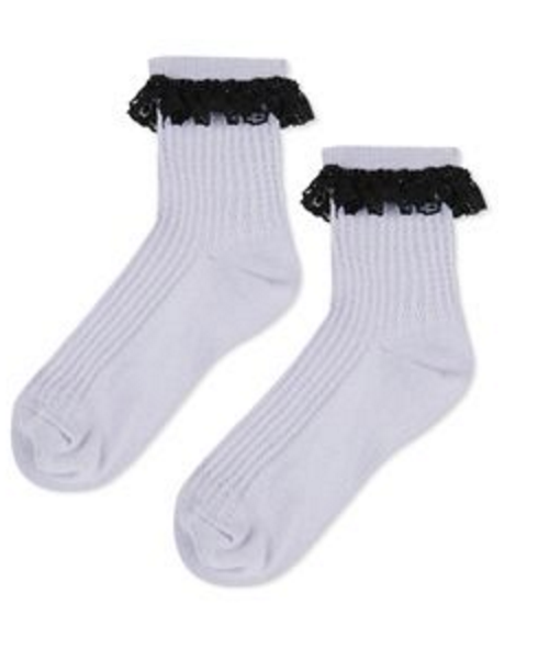 LACE TRIM ANKLE SOCK