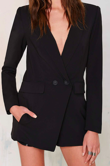 'NO TUX GIVEN' BLACK BLAZER ROMPER
