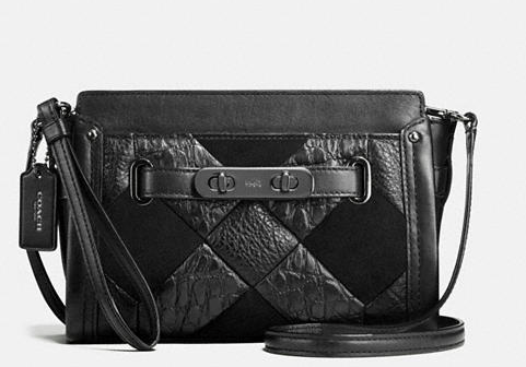 COACH SWAGGER WRISTLET IN CANYON QUILT LEATHER BAG