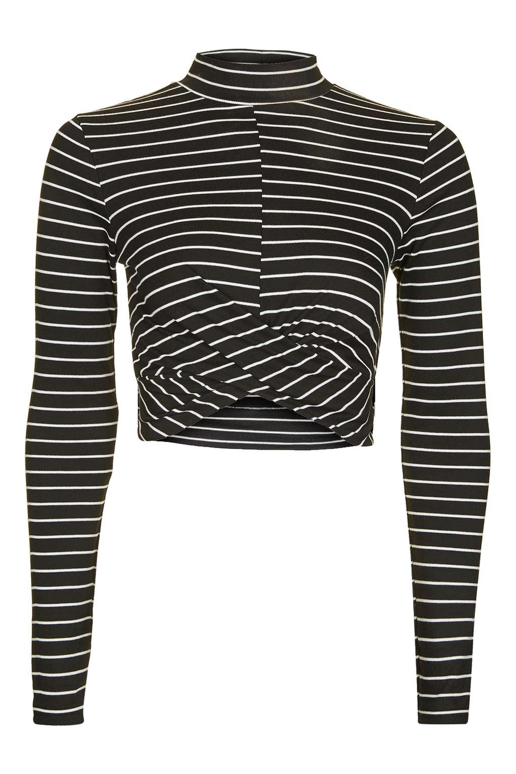 TOPSHOP BLACK & WHITE CROPPED TOP