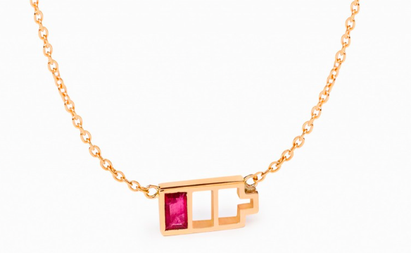 NADINE GHOSN 'LOW BATTERY PETITE NECKLACE