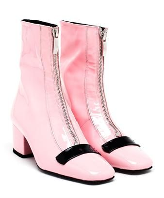 DORATEYMUR 'DELTA' PATENT LEATHER ANKLE BOOTS