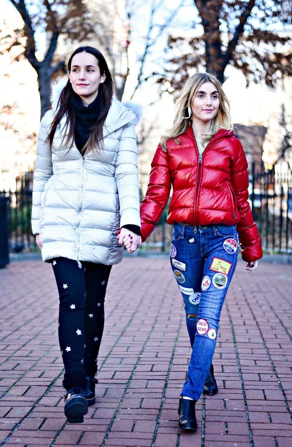 SOPHIE & CHARLOTTE BICKLEY YIN 2MY YANG SISTER FASHION BLOGGERS NYC PUFFER JACKETS