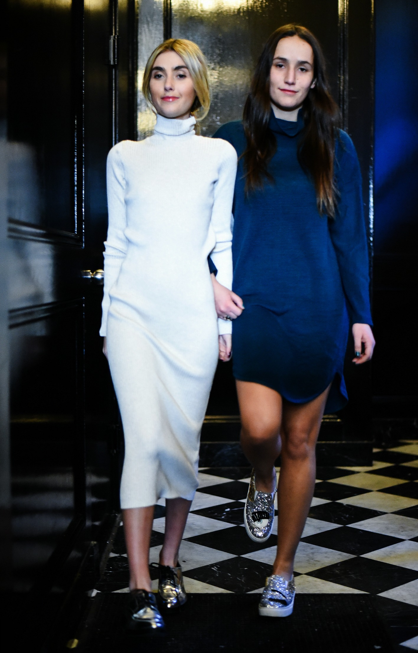 SOPHIE AND CHARLOTTE BICKLEY YIN 2MY YANG SISTER FASHION BLOGGERS NYC SWEATER DRESSES POST
