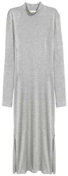 H&M GREY TURTLENECK DRESS