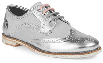 TED BAKER LONDON 'ANOIHE' METALLIC LEATHER WINGTIP OXFORDS