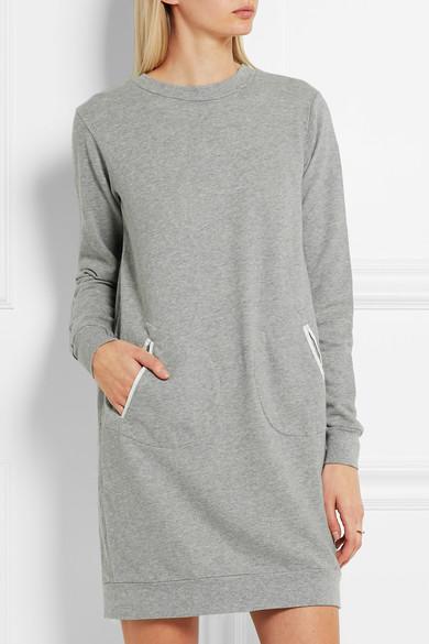 CLU LACE & SILK PANELED SWEATER DRESS