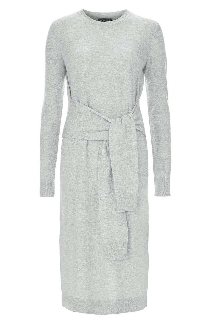TOPSHOP TIE-WAIST SWEATER DRESS