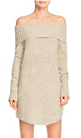 REBECCA MINKOFF 'ERID' OFF-THE-SHOULDER SWEATER DRESS